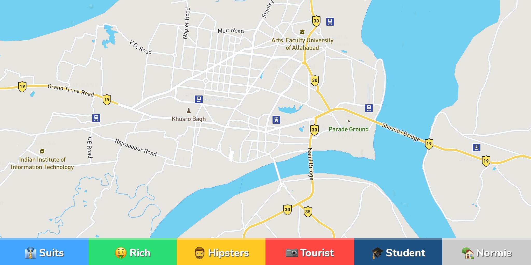 Allahabad Neighborhood Map - Allahabad map
