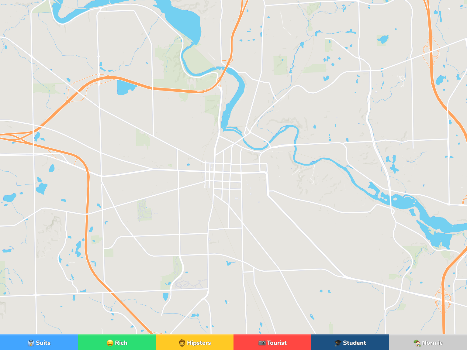 Ann Arbor Neighborhood Map