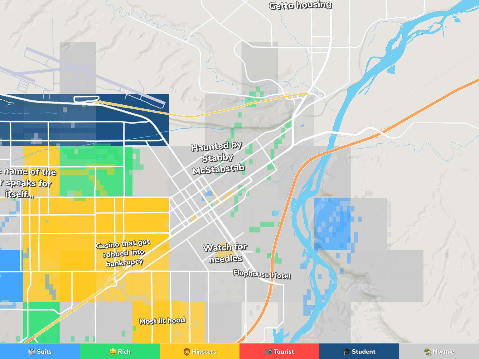 Billings Neighborhood Map