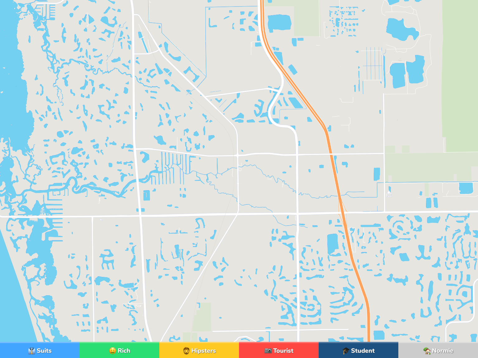 Bonita Springs Neighborhood Map