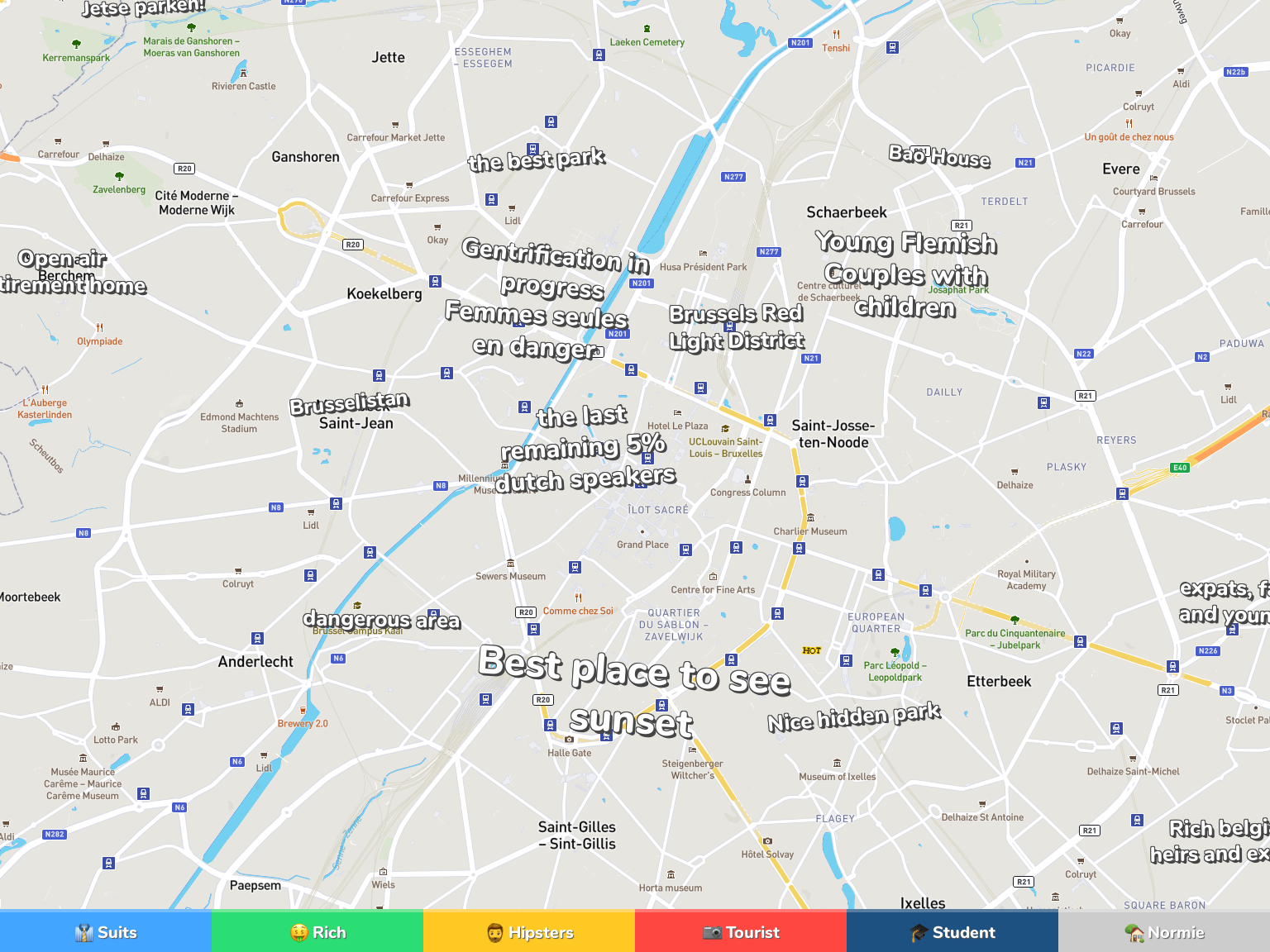Brussels Neighborhood Map