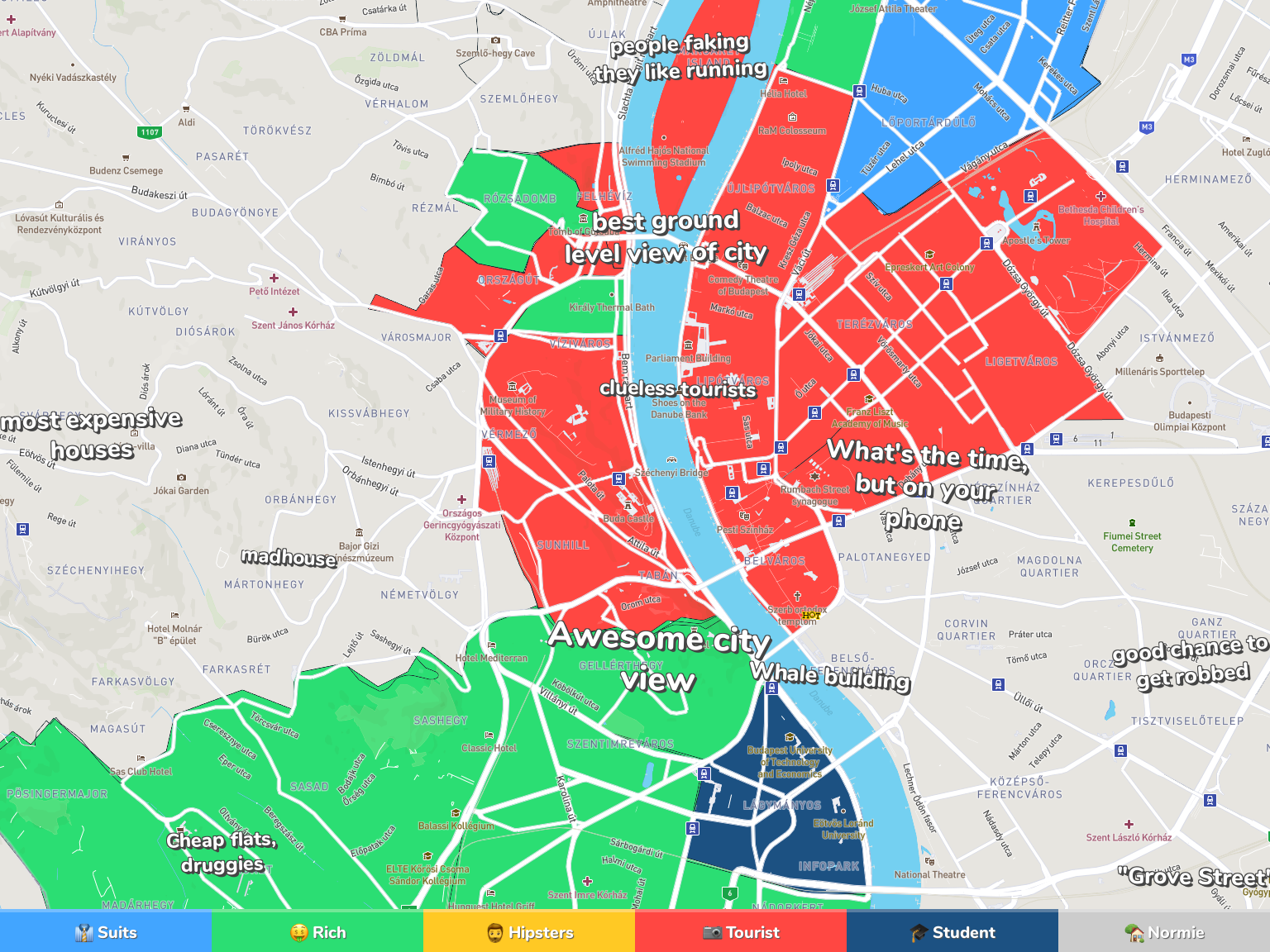 Budapest Neighborhood Map