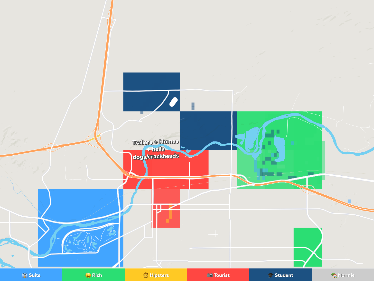 Casper Neighborhood Map
