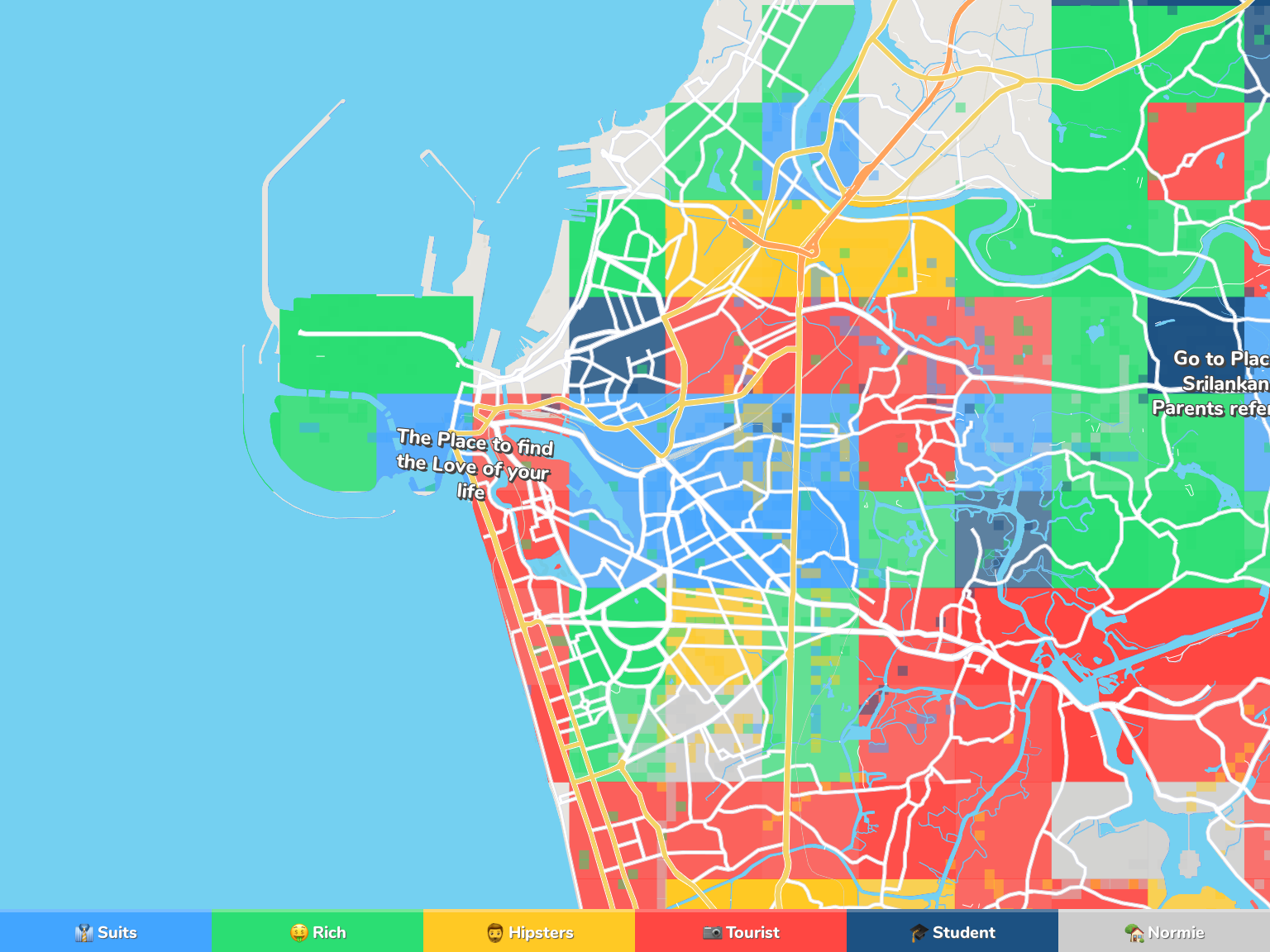 Colombo Neighborhood Map