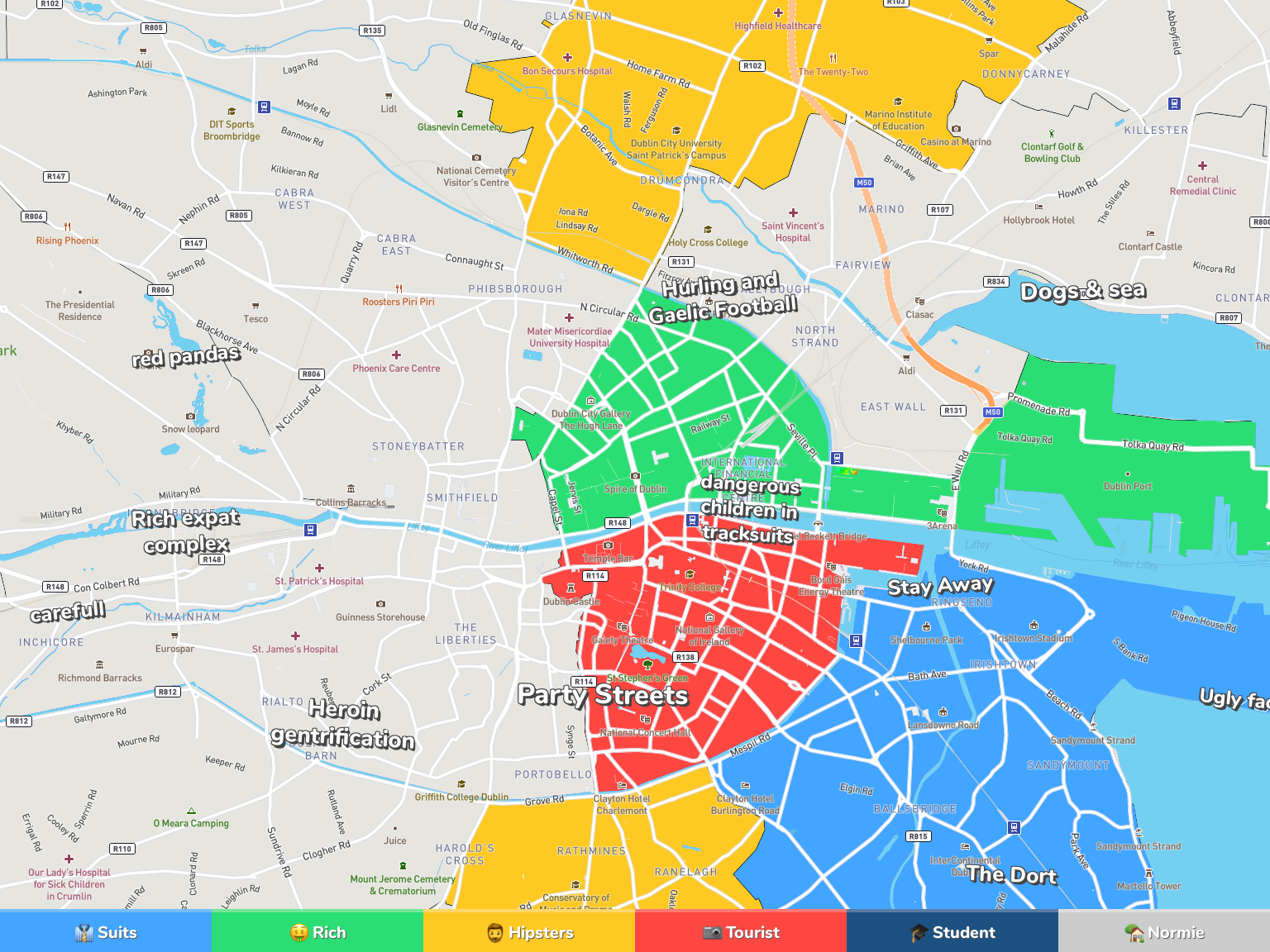 Dublin Neighborhood Map