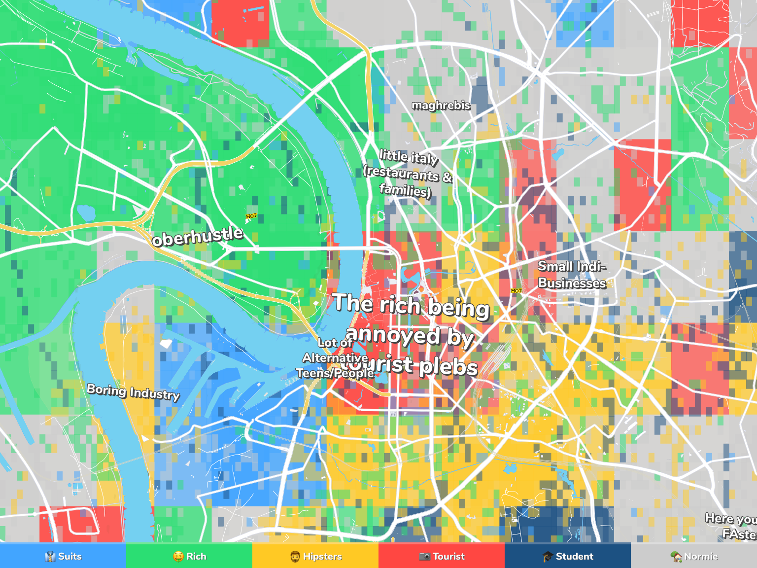 Dusseldorf Neighborhood Map