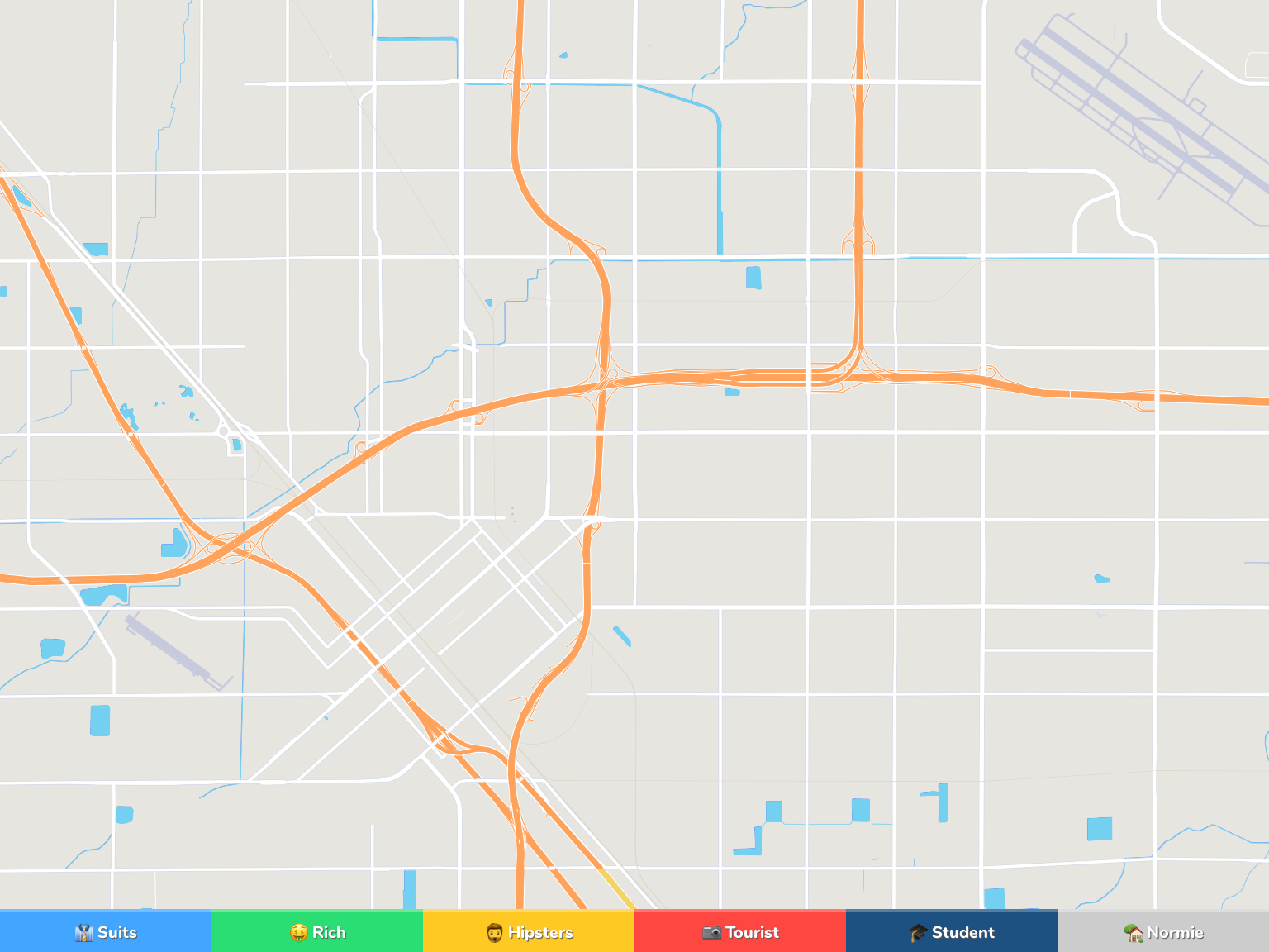 Fresno Neighborhood Map