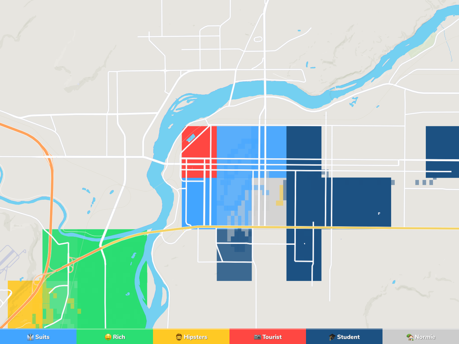 Great Falls Neighborhood Map