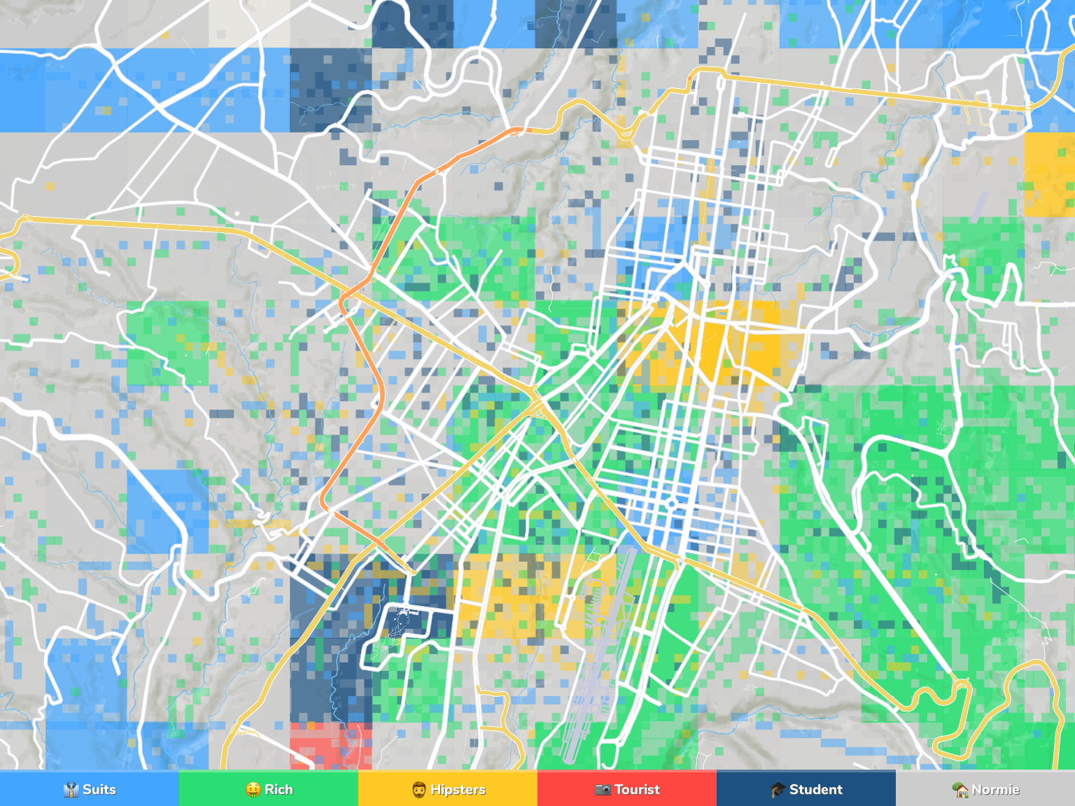 Picture of: Guatemala City Neighborhood Map