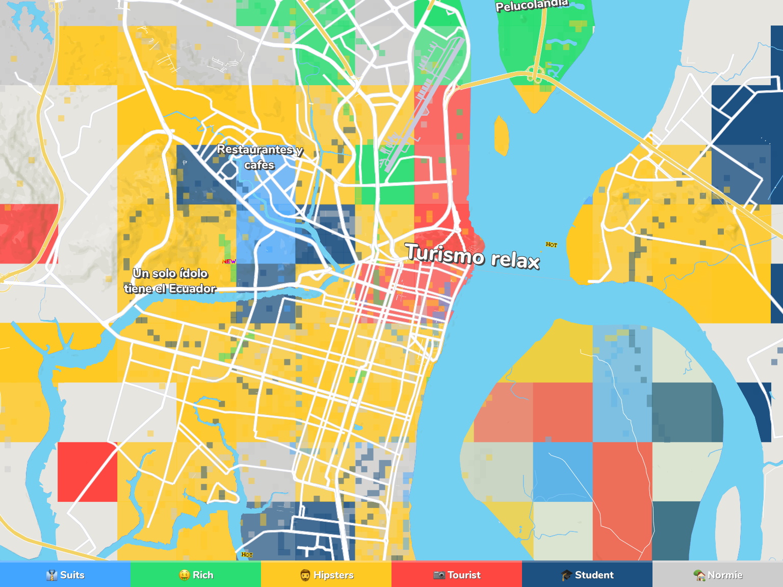 Guayaquil Neighborhood Map