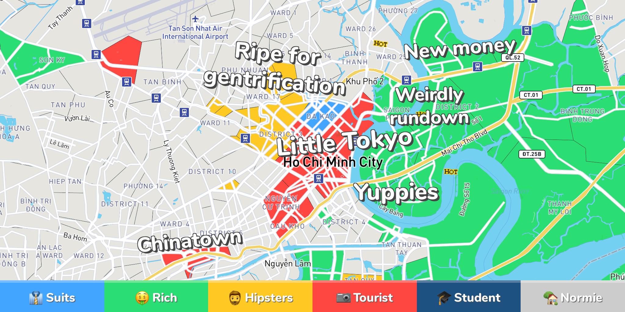 Ho Chi Minh City Neighborhood Map