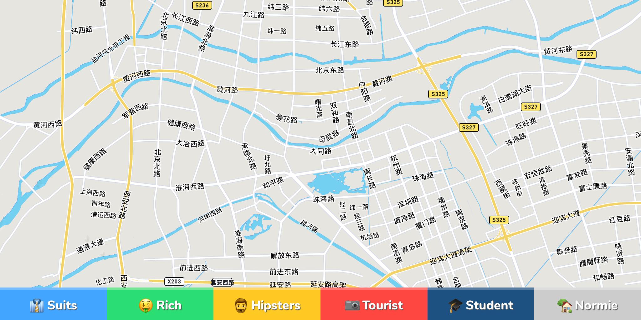 Huaian Neighborhood Map - Huaian map