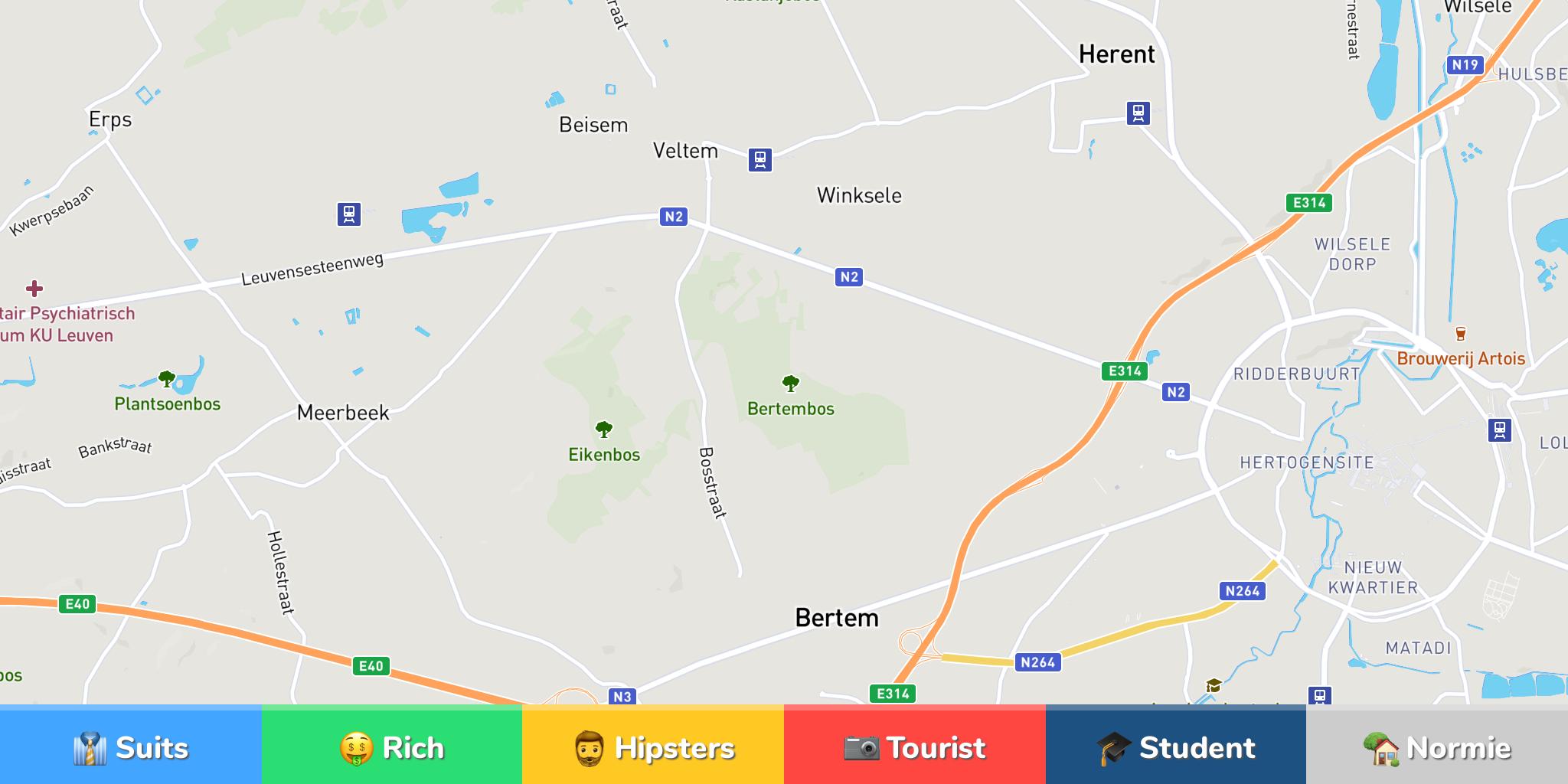 Leuven Neighborhood Map