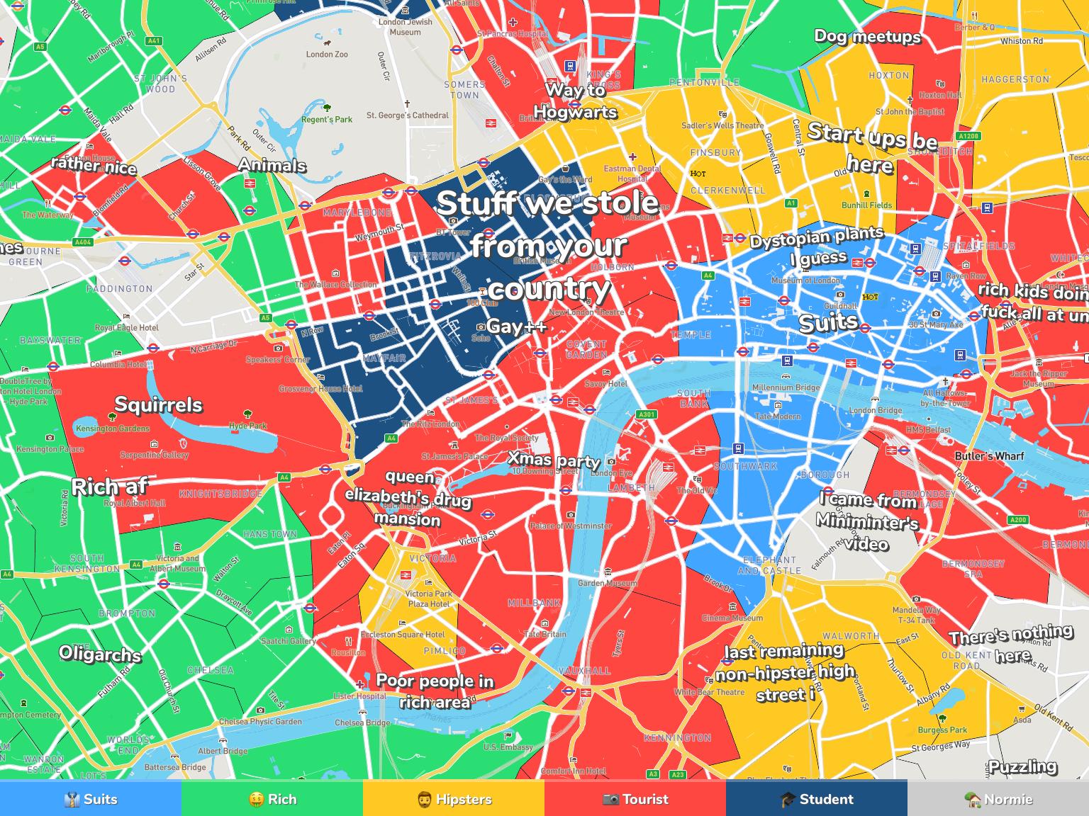 London Neighborhood Map