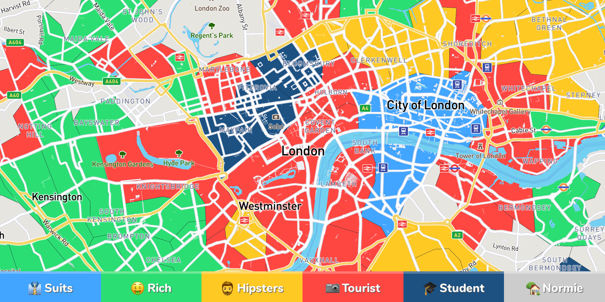 Neighborhood Map London.Track Your Travels On A Map Nomad List