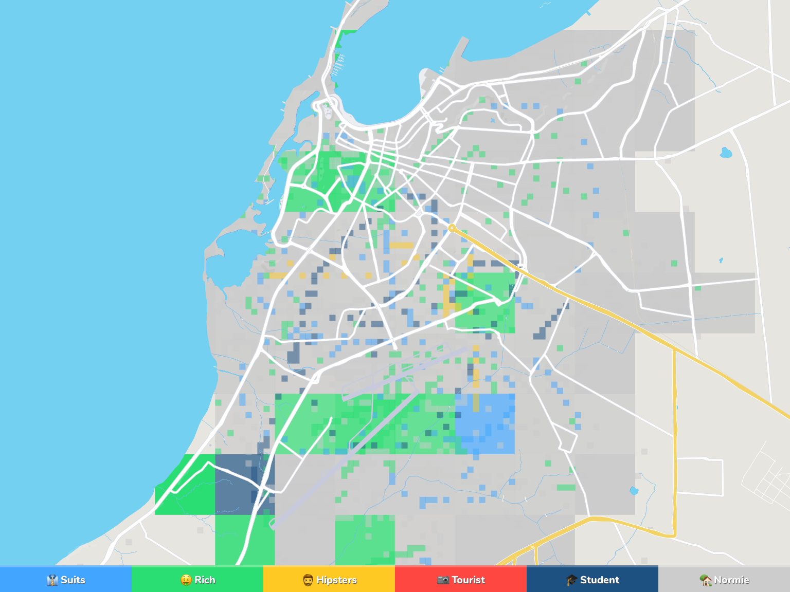 Luanda Neighborhood Map