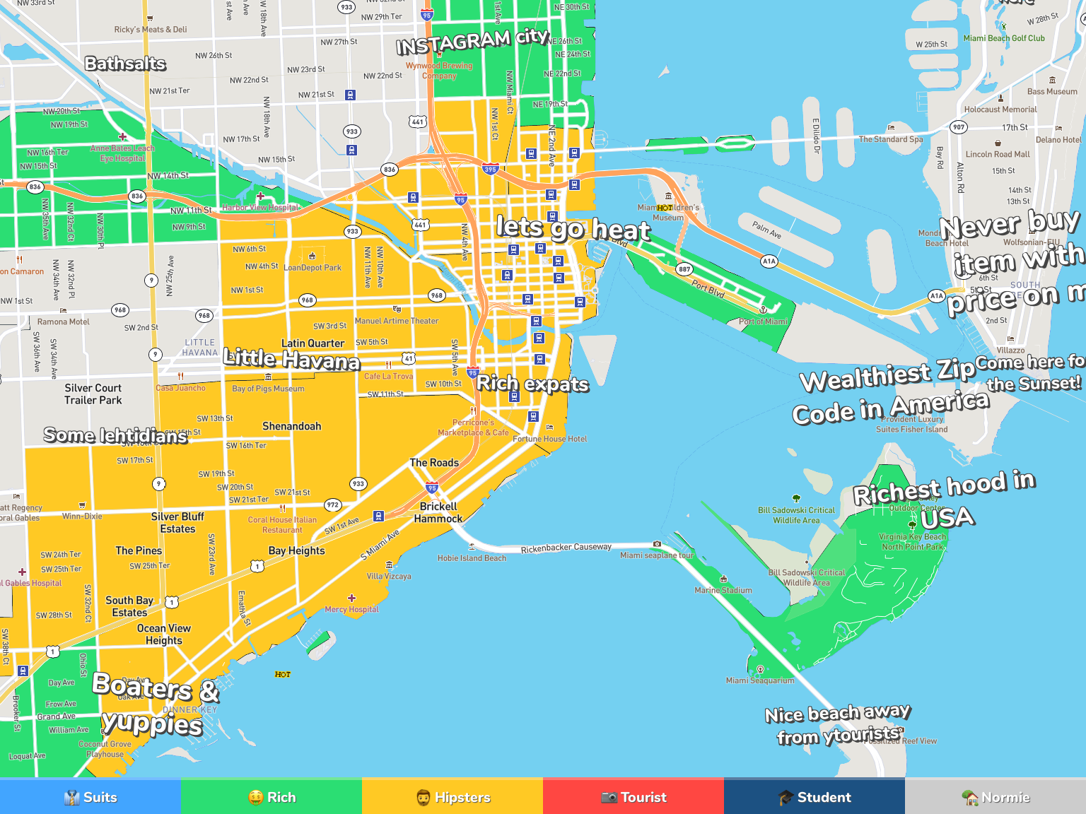 Miami Neighborhood Map In the bay area, black households are twice as likely as white households to live in neighborhoods that are at risk of gentrification. miami neighborhood map