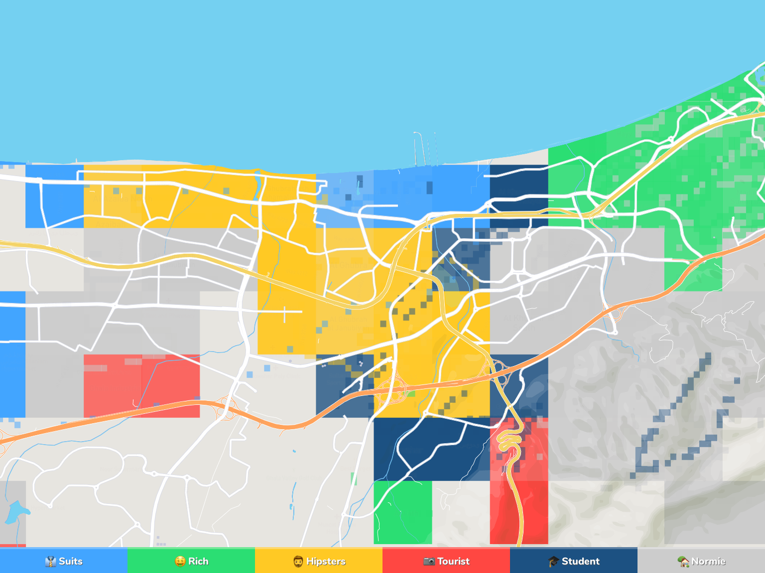 Muscat Neighborhood Map