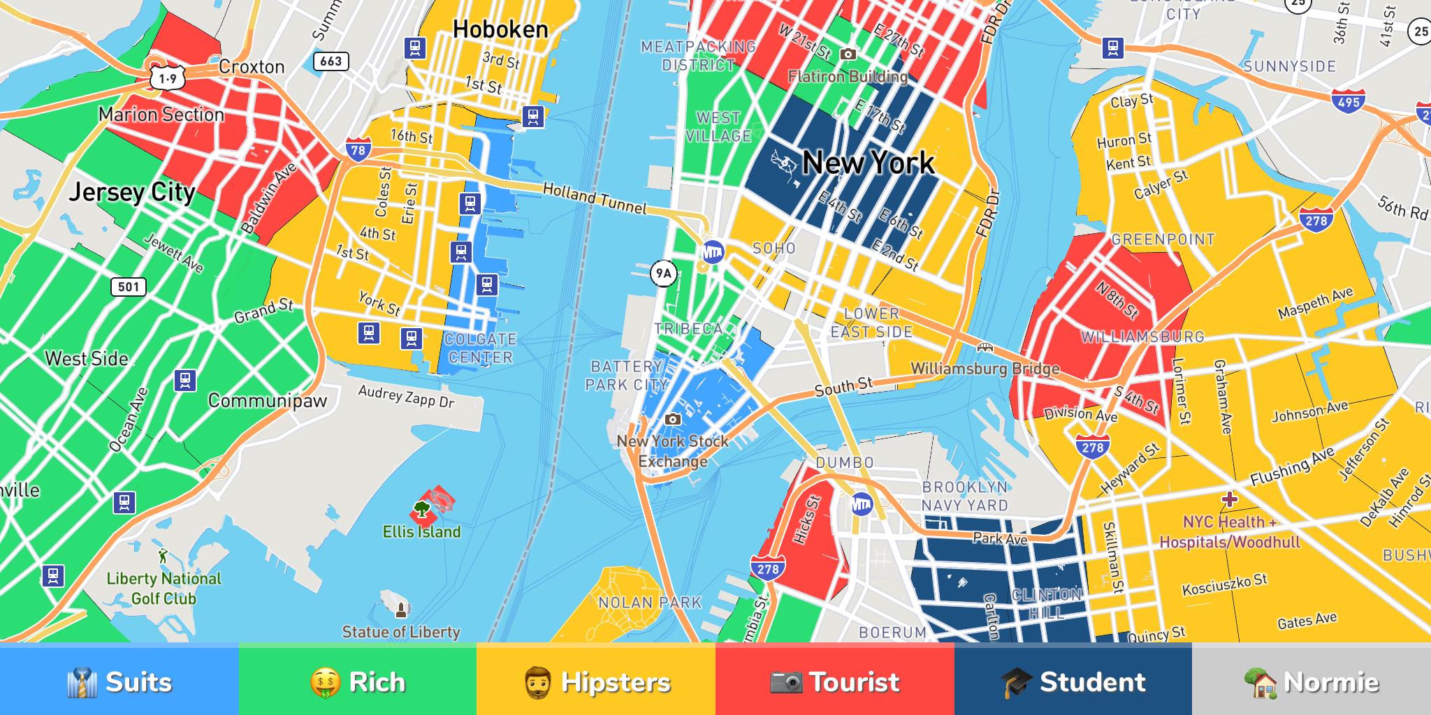 Where to Stay Around the World: Neighborhood Maps by Hoodmaps