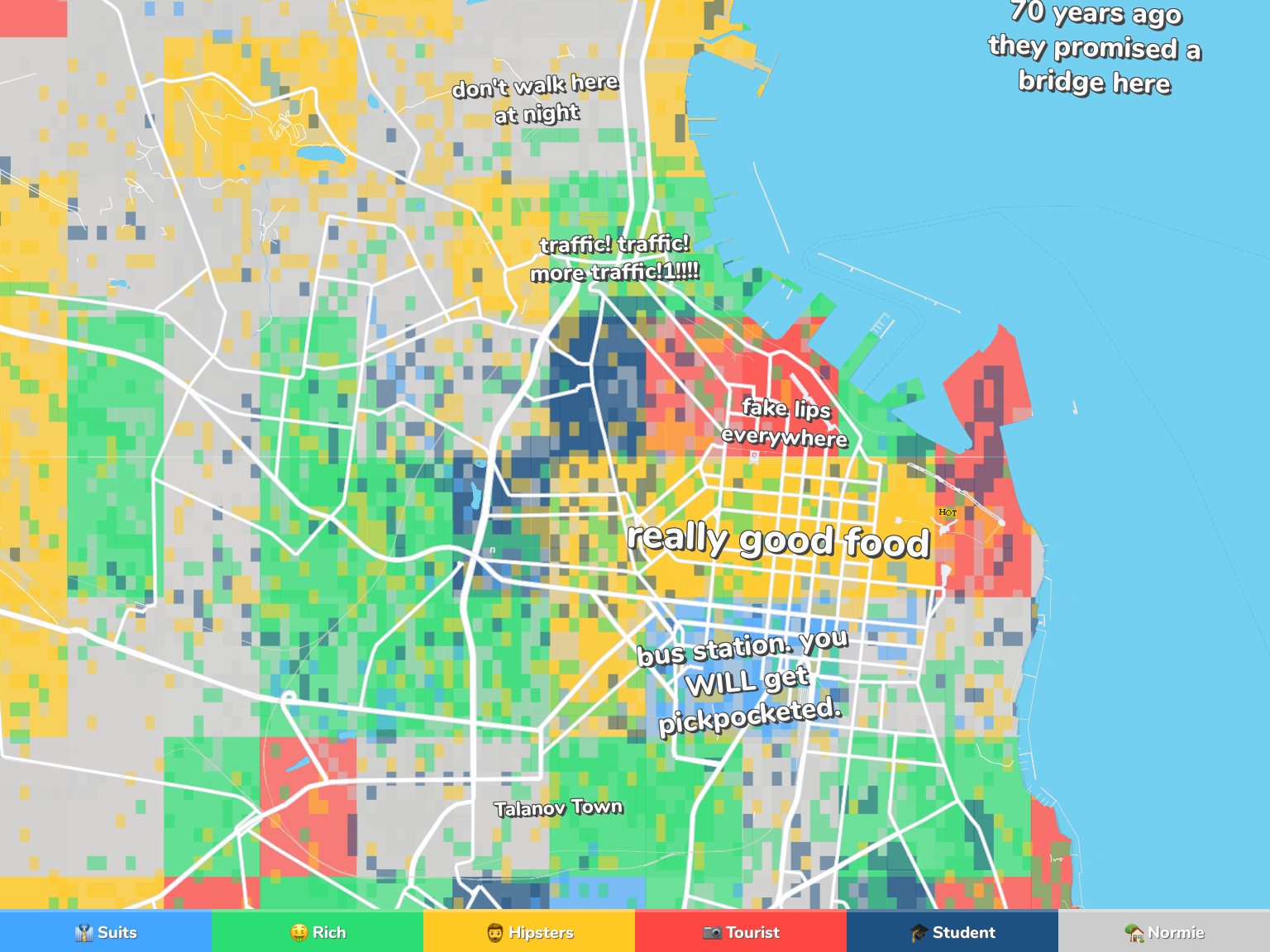 Odessa Neighborhood Map