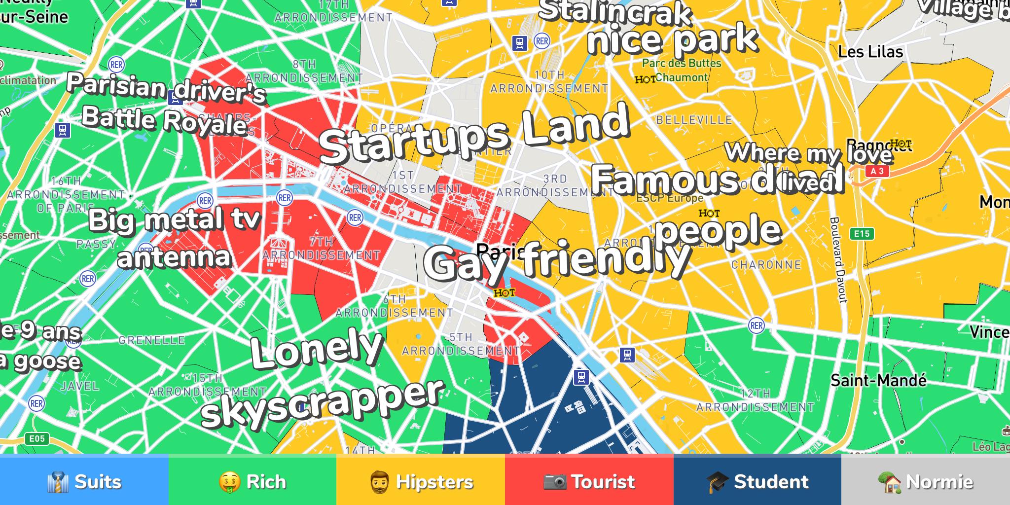 Paris Neighborhood Map