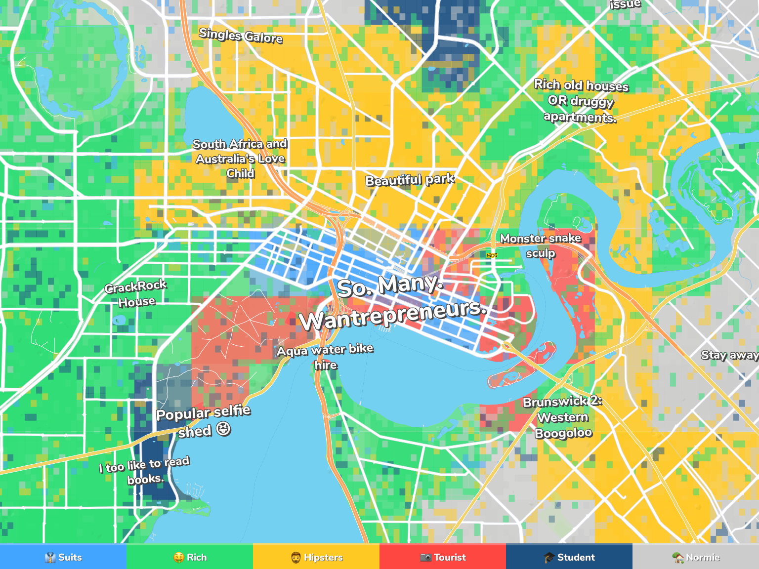 Perth Neighborhood Map