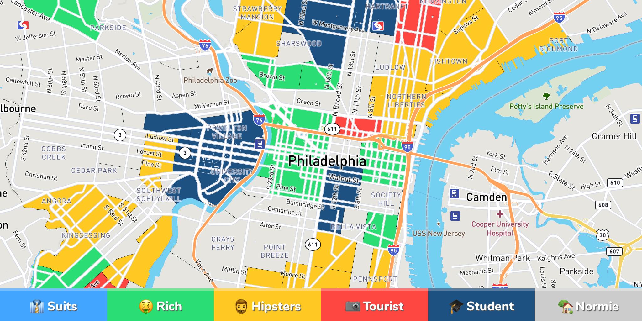 Philadelphia Neighborhood Map - Philadelphia map
