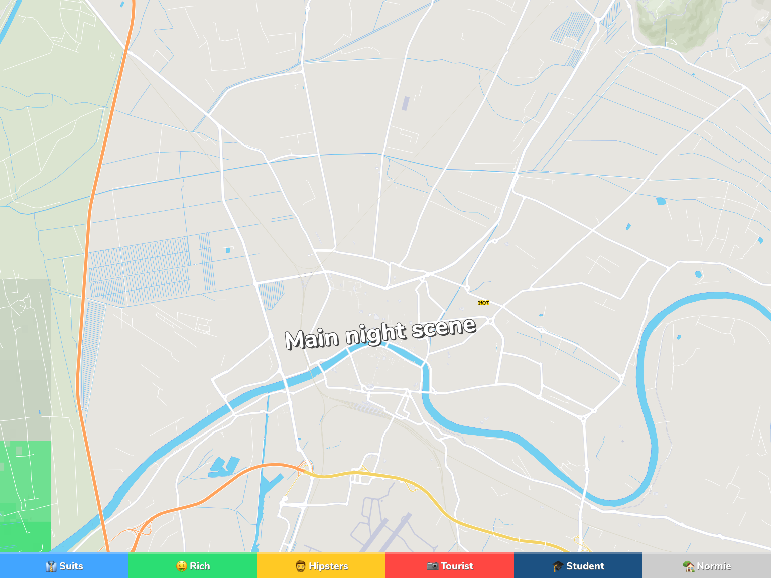 Pisa Neighborhood Map