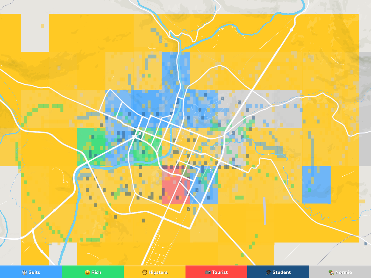 Podgorica Neighborhood Map