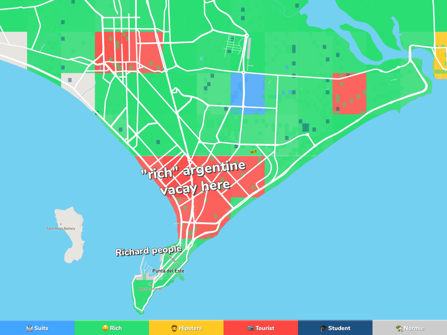 Punta del Este Neighborhood Map