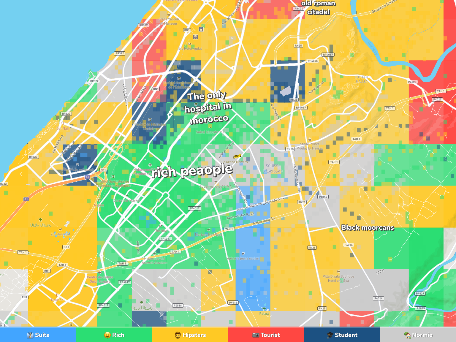 Rabat Neighborhood Map