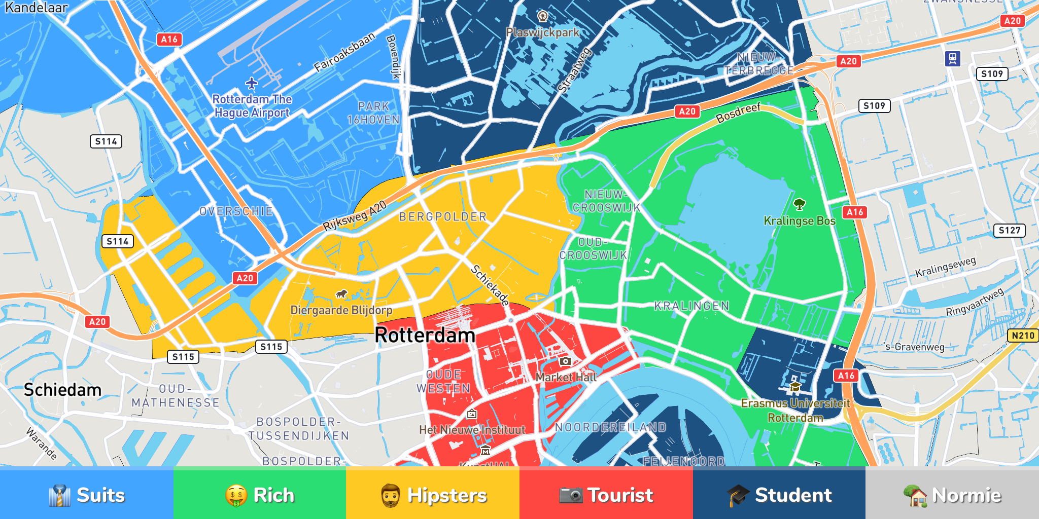 Rotterdam Neighborhood Map