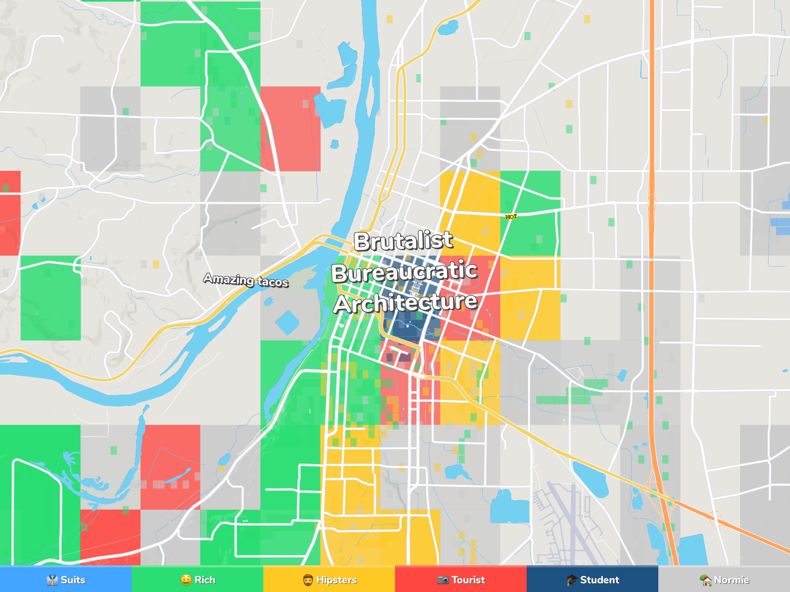 Salem Neighborhood Map