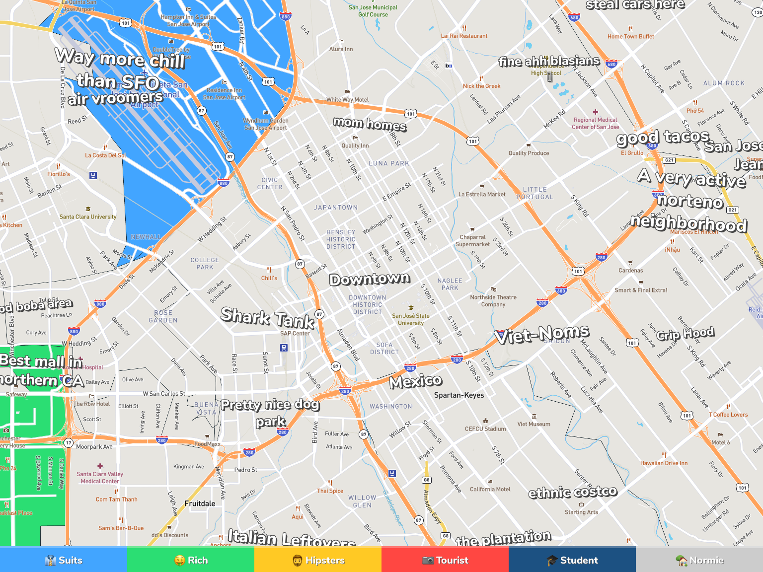 San Jose Neighborhood Map