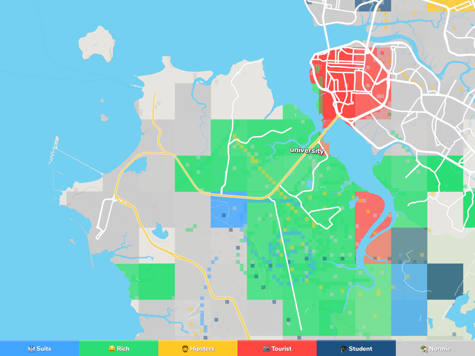 Sao Luis Neighborhood Map