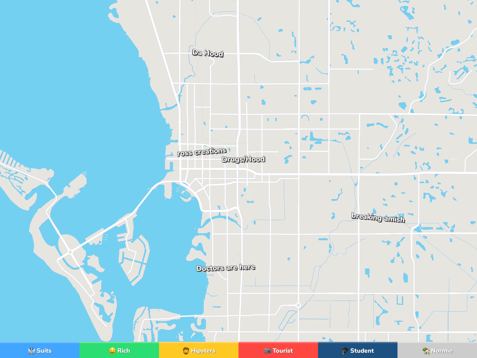 Sarasota Neighborhood Map