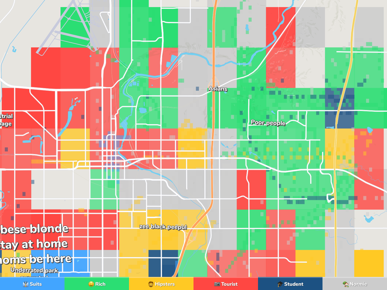 Sioux Falls Neighborhood Map
