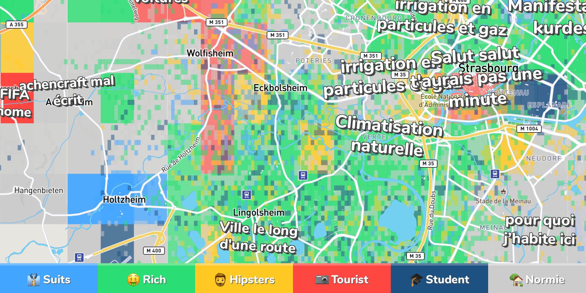 Strasbourg Neighborhood Map