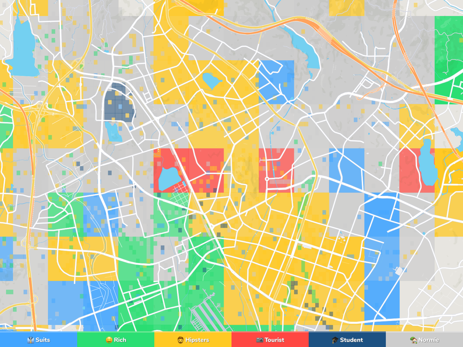 Suwon Neighborhood Map
