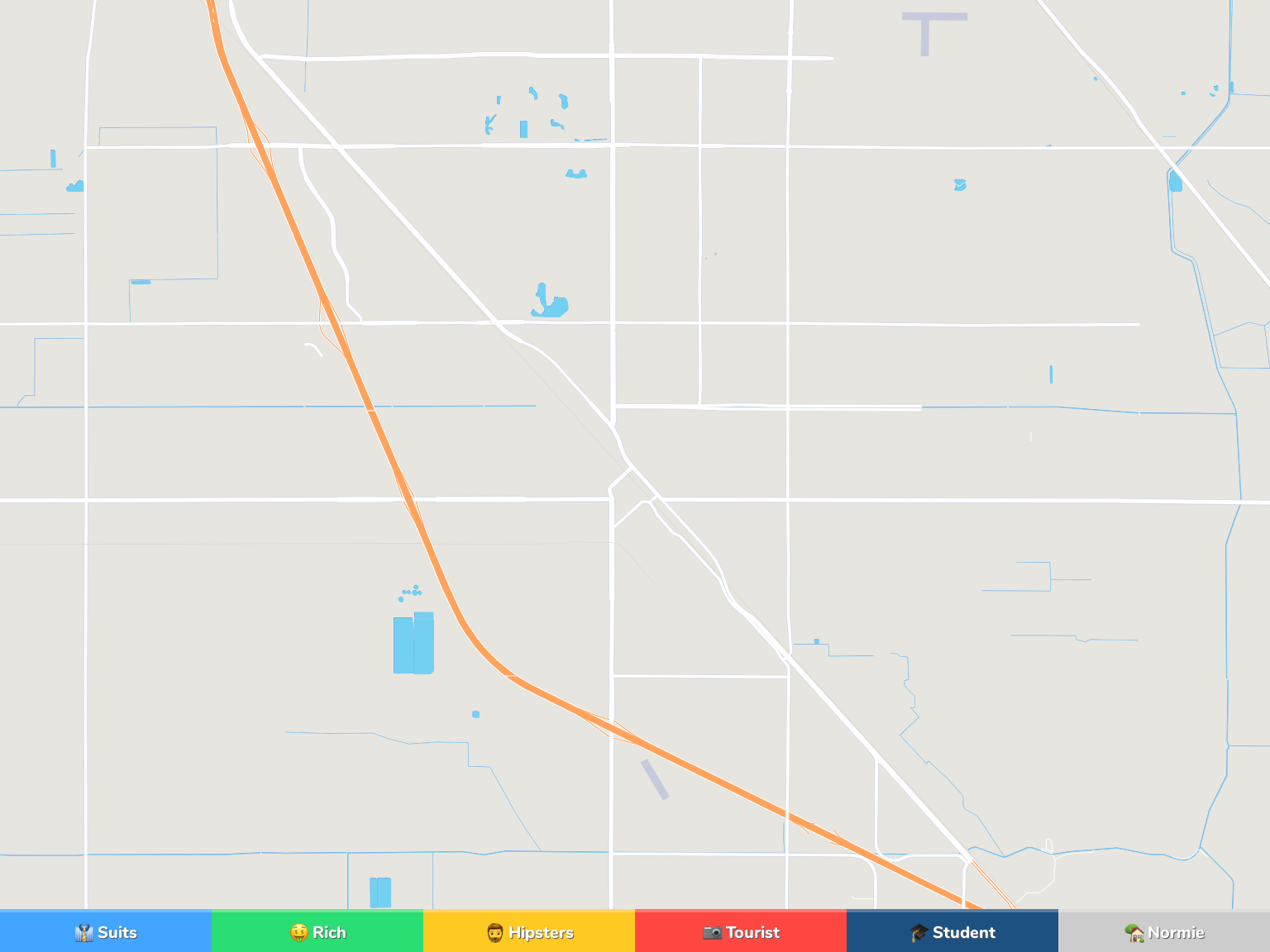 Turlock Neighborhood Map