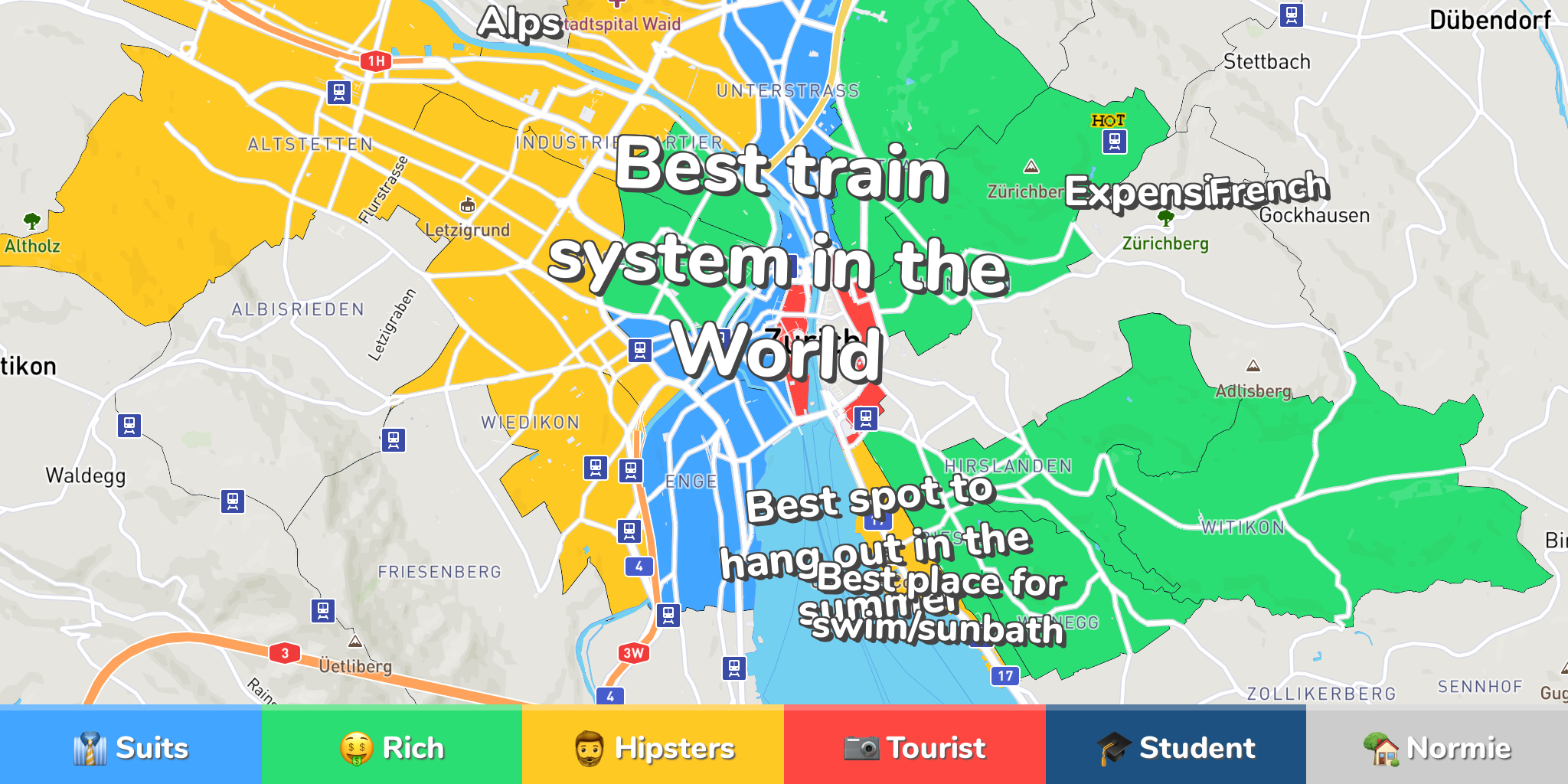 Where to Stay in Zurich: Neighborhood Map by 220 Locals on montreal neighborhood map, tokyo neighborhood map, barcelona neighborhood map, seoul neighborhood map, rio de janeiro neighborhood map, cape town neighborhood map, edinburgh neighborhood map, bangkok neighborhood map, santiago neighborhood map, merida neighborhood map, basel neighborhood map, bogota neighborhood map, madrid neighborhood map, brussels neighborhood map, warsaw neighborhood map, auckland neighborhood map, calgary neighborhood map, sydney neighborhood map, nairobi neighborhood map,